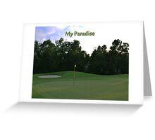Golf Paradise Greeting Card
