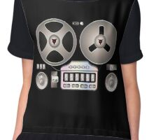 Tape Recorder Retro Magnetophon  Chiffon Top