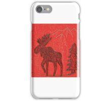 Red Moose iPhone Case/Skin