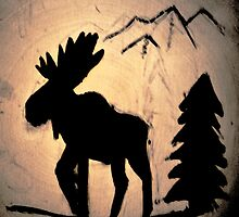 Moose Shadow by Brian Blaine