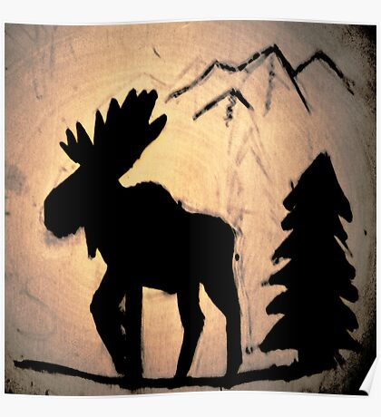 Moose Shadow Poster