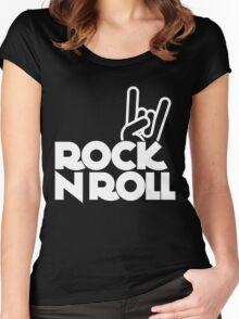 rock n roll Women's Fitted Scoop T-Shirt