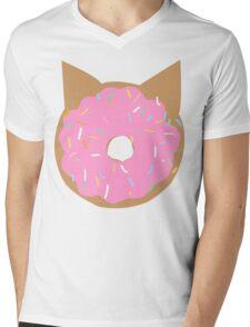 Cat Donut Mens V-Neck T-Shirt