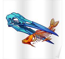 Heron and Goldfish Poster