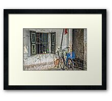 Bicycle by the Window Framed Print