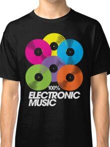 100% Electronic Music (black) Classic T-Shirt
