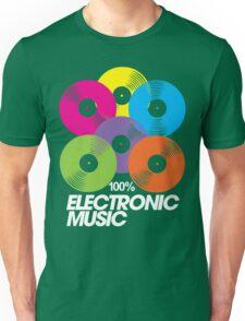 100% Electronic Music (black) Unisex T-Shirt