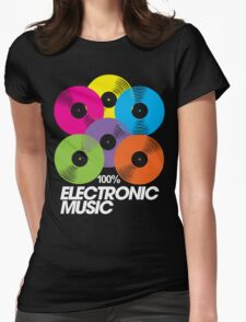 100% Electronic Music (black) Womens Fitted T-Shirt