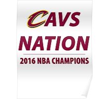 2016 NBA Champions - Cleveland Cavaliers Poster