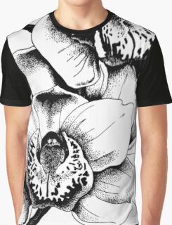 Ink Orchids Graphic T-Shirt