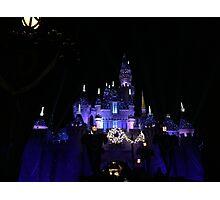 Disneyland Castle Diamond Celebration  Photographic Print