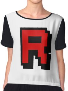 Team Pixellated R Chiffon Top