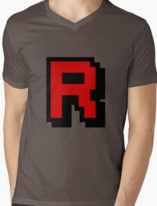 Team Pixellated R Mens V-Neck T-Shirt