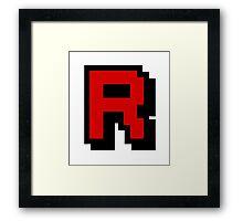 Team Pixellated R Framed Print