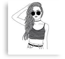 PRETTY TUMBLR GIRL merch Canvas Print