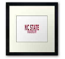 North Carolina State University Framed Print