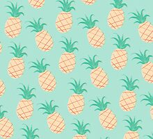 Pineapple Print / Pattern Phone Case by nataleigh