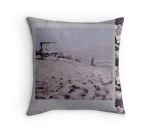 Malibu Silver Surfer Throw Pillow