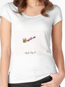 Bee with me Women's Fitted Scoop T-Shirt
