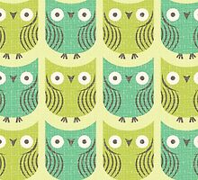 Owl Print / Repeat Pattern by nataleigh