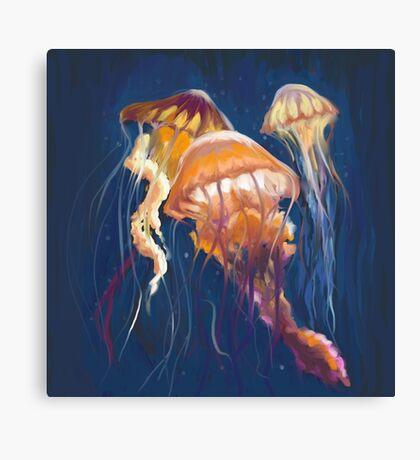 Painterly Jellyfish  Canvas Print