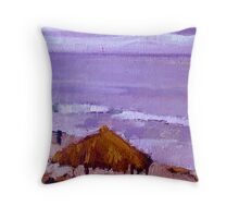 Purple Wind-n-Sea Hut Throw Pillow
