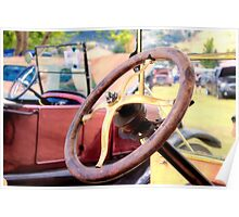 Classic Cars: Steering Wheel Poster