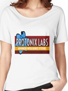 Logo-Protonix Labs Women's Relaxed Fit T-Shirt