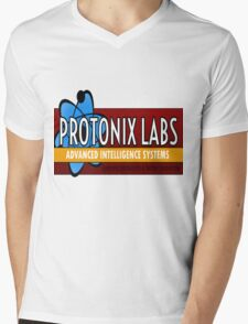 Logo-Protonix Labs Mens V-Neck T-Shirt