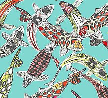 lucky koi (card) by Sharon Turner