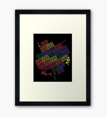 Retro Rainbow Framed Print