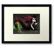Earth Dragon GIrl Framed Print