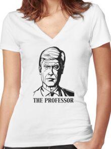 The Professor-Arsene Wenger Women's Fitted V-Neck T-Shirt