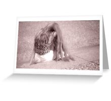 Paris.....Romina after a Photo Session..... Greeting Card