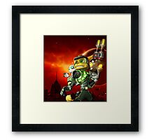 RATCHET CLANK ON ACTION Framed Print