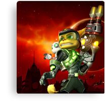 RATCHET CLANK ON ACTION Canvas Print