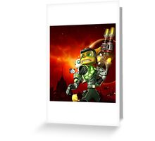 RATCHET CLANK ON ACTION Greeting Card