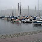 Marina in Ostersund, Sweden by Kay Cunningham