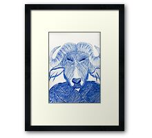 Mr. Water Buffalo Framed Print