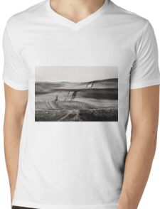 Hills from Val d'Orcia, Tuscany Mens V-Neck T-Shirt