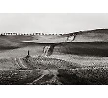 Hills from Val d'Orcia, Tuscany Photographic Print