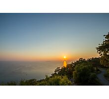 evening in the gulf of trieste Photographic Print