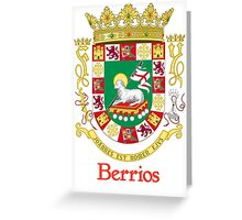Berrios Shield of Puerto Rico Greeting Card