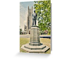 Duke Statue and Chapel Greeting Card