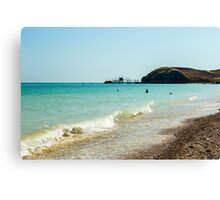 italian seaside in a summer day Canvas Print