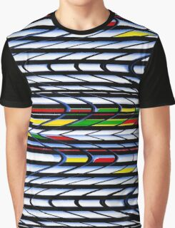 To & Fro - Curved Rectangles in Primary Colors Graphic T-Shirt