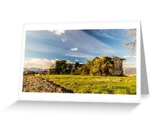 Abandoned farm in the countryside Greeting Card