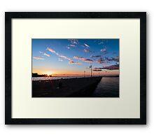 Docks of Trieste Framed Print