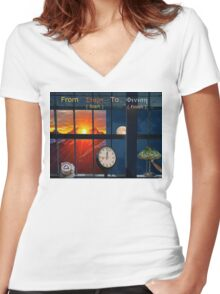 From Start to Finish Women's Fitted V-Neck T-Shirt