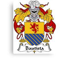 Bautista Coat of Arms/ Bautista Family Crest Canvas Print